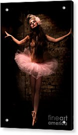 Ballerina Acrylic Print by Tbone Oliver