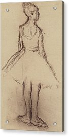 Ballerina Viewed From The Back  Acrylic Print by Edgar Degas