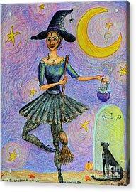 Ballerina Witch Acrylic Print by Emily Michaud