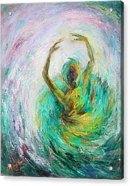 Acrylic Print featuring the painting Ballerina by Xueling Zou