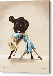 Ballet 1  Acrylic Print by Karen  Loughridge KLArt