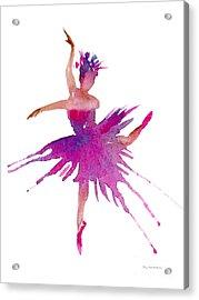 Ballet Arabesque Acrylic Print by Amy Kirkpatrick