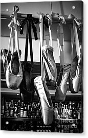 Acrylic Print featuring the photograph Ballet At The Bar by Peta Thames