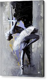 Ballet Dancer 16 Acrylic Print by Mahnoor Shah