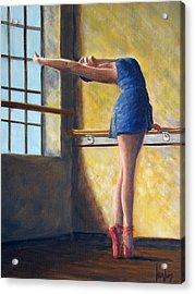 Ballet Dancer Warm Up Acrylic Print
