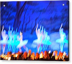 Ballet Dancers Abstract. Acrylic Print by Oscar Williams