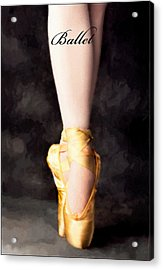 Ballet Acrylic Print by David Perry Lawrence
