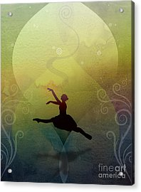 Ballet In Solitude - Color Verde Acrylic Print by Peter Awax
