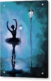Ballet In The Night  Acrylic Print by Corporate Art Task Force