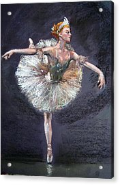Acrylic Print featuring the painting Ballet by Jieming Wang