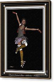 Ballet On Skates 1bos2 Acrylic Print by Pemaro