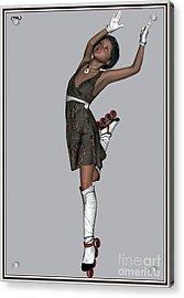 Ballet On Skates 2bos1 Acrylic Print by Pemaro
