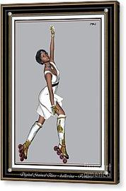 Ballet On Skates 5bos2 Acrylic Print by Pemaro