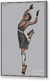 Ballet On Skates 6bos1 Acrylic Print by Pemaro