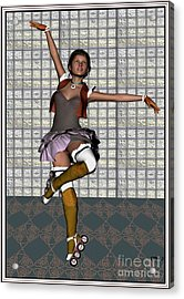 Ballet On Skates Bos1 Acrylic Print by Pemaro