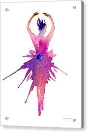Ballet Releve Acrylic Print by Amy Kirkpatrick