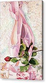 Ballet Rose Acrylic Print by Judy Koenig