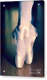 Ballet Slippers 1 Acrylic Print by Karen Larter