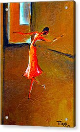 Ballet Solitaire Acrylic Print by Mirko Gallery