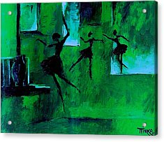 Ballet Vert Acrylic Print by Mirko Gallery