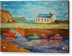 Ballintoy Series 1 Acrylic Print by Paul Morgan