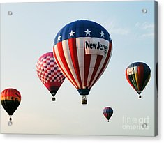 Acrylic Print featuring the digital art Balloon Festival by Steven Spak