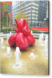 Balloon Flower In The Water Acrylic Print