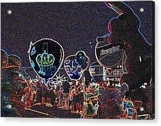 Balloon Glow - Neon Acrylic Print