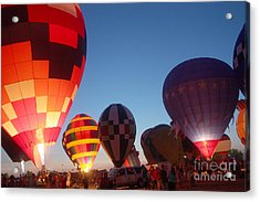 Balloon-glow-7783 Acrylic Print by Gary Gingrich Galleries