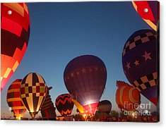 Balloon-glow-7808 Acrylic Print by Gary Gingrich Galleries
