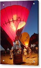 Balloon-glow-7831 Acrylic Print by Gary Gingrich Galleries