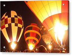 Balloon-glow-7950 Acrylic Print by Gary Gingrich Galleries