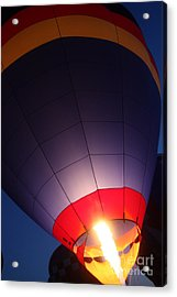 Balloon-glowpurple-7710 Acrylic Print by Gary Gingrich Galleries