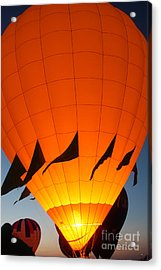 Balloon-glowyellow-7689 Acrylic Print by Gary Gingrich Galleries
