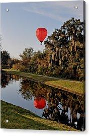 Balloon Reflection Acrylic Print by John Black