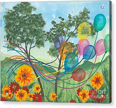 Balloon Release Acrylic Print by Denise Hoag