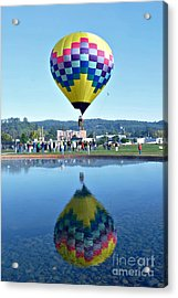 Acrylic Print featuring the photograph Balloon Ride  by Mindy Bench