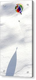 Balloon Snow Shadow Acrylic Print by Stephen Richards