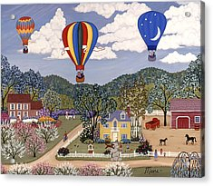 Ballooning Acrylic Print by Linda Mears