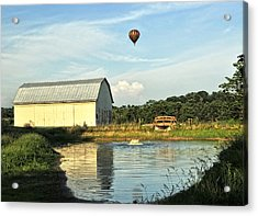 Balloons And Barns Acrylic Print