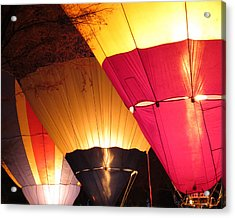 Balloons At Night Acrylic Print by Laurel Powell