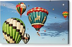 Balloons Away Acrylic Print by Dave Files