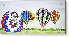Acrylic Print featuring the painting Balloons by Carol Flagg