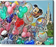 Balloons Down Main Street Acrylic Print by Rachael M