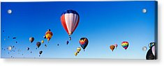 Balloons Floating In Blue Sky Acrylic Print