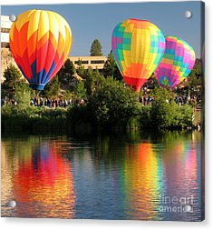 Acrylic Print featuring the photograph Balloons Over Bend Oregon by Kevin Desrosiers