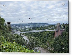 Acrylic Print featuring the photograph Balloons Over Clifton by Stewart Scott