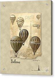 Balloons With Sepia Acrylic Print