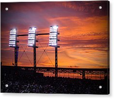 Ballpark At Sunset Acrylic Print