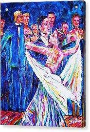 Ballroom Compitition Acrylic Print by Linda Vaughon